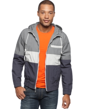 American Rag Jacket, Colorblocked Hooded Jacket