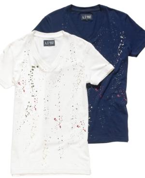Armani Jeans T Shirt, Color Splash T Shirt