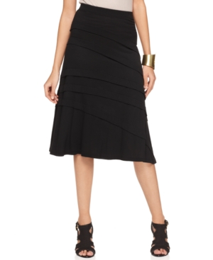 INC International Concepts Skirt, A-Line Pull On Seamed
