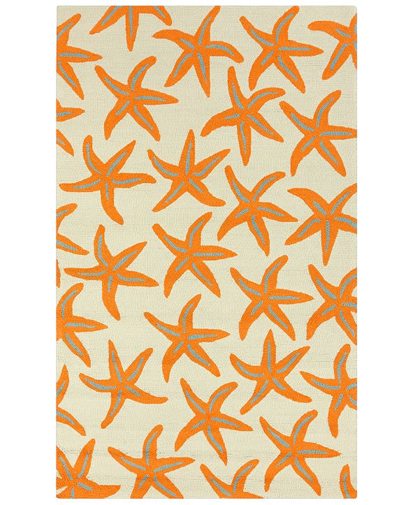Surya Rain RAI-1136 Bright Orange 8' x 10' Area Rug, Indoor/Outdoor