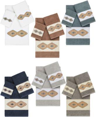 Gianna 4-Pc. Embroidered Turkish Cotton Bath Towel Set