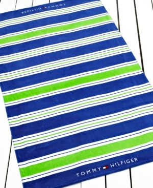 Tommy Hilfiger Towels, Cabana Stripe Beach Towel