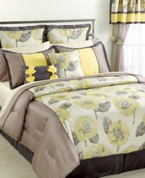 Peony 24 Piece King Comforter Set Bedding