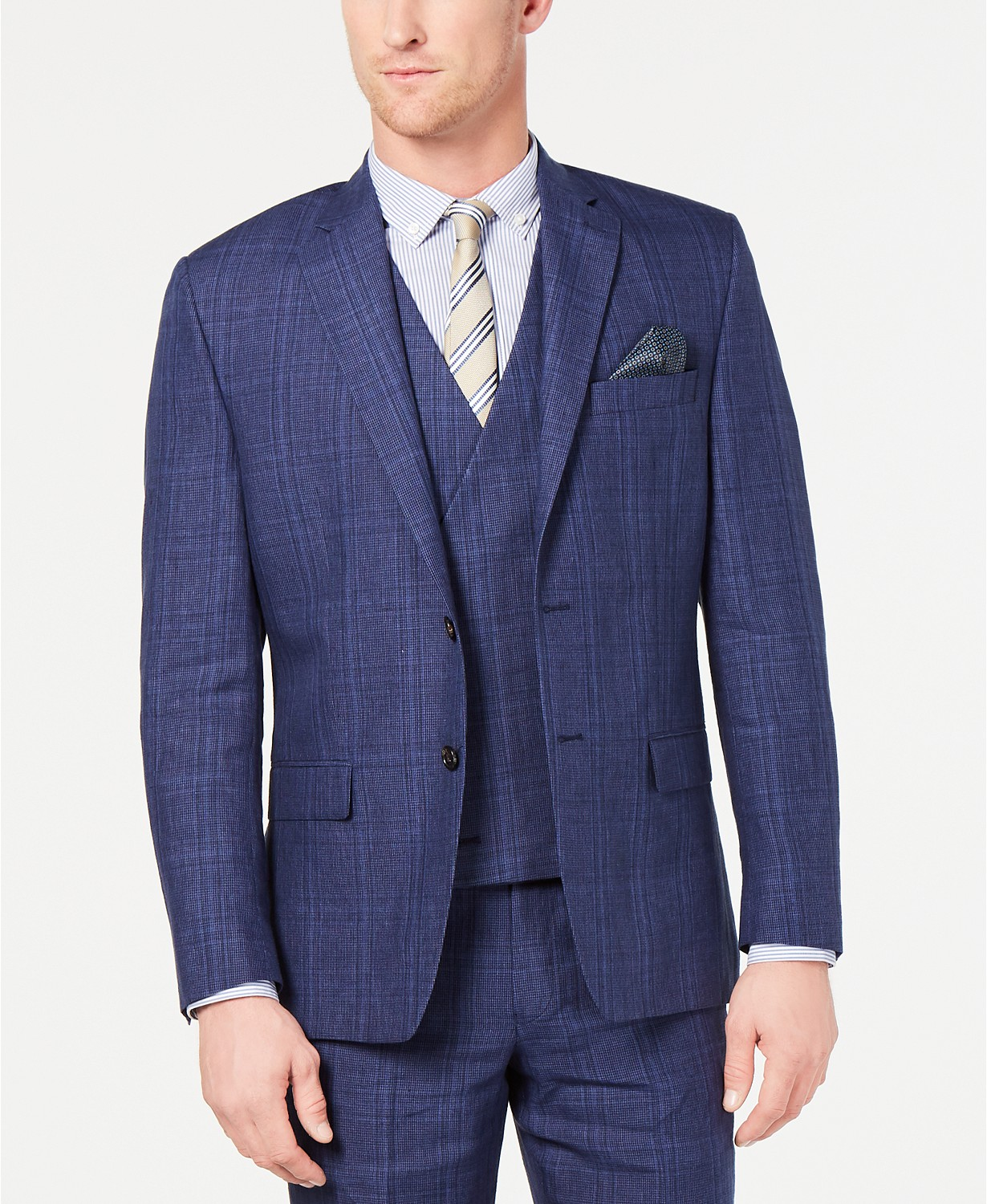 Lauren Ralph Lauren Mens Classic-Fit UltraFlex Stretch Suit Jacket