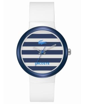Lacoste Watch, Goa White Silicone Strap 40mm 2020023