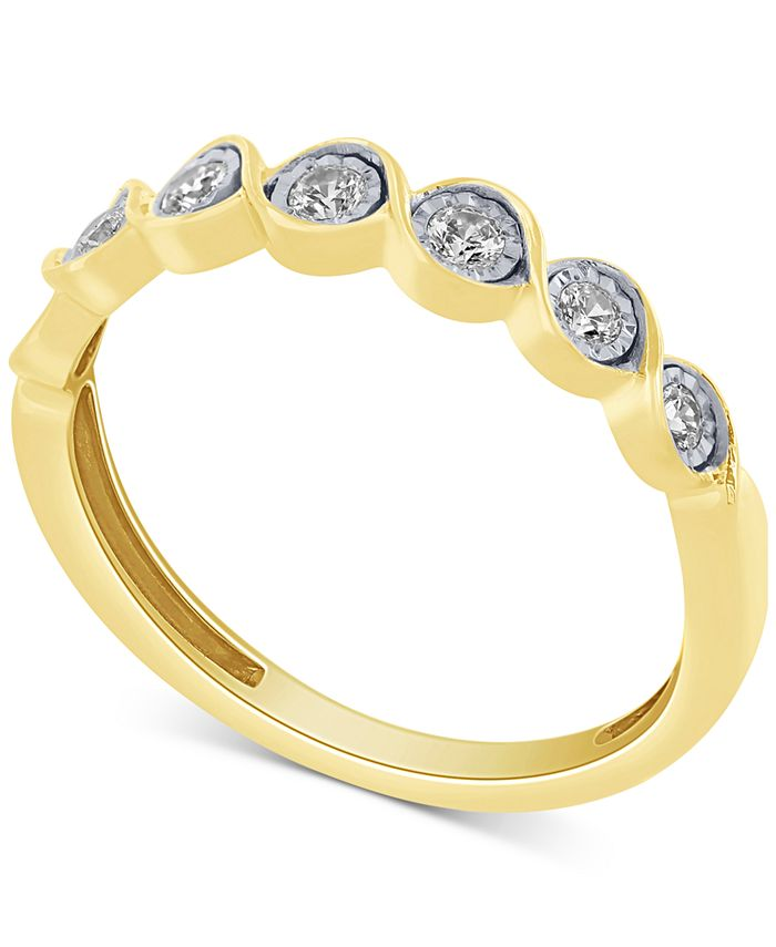 Macy's - Diamond Fashion Band (1/5 ct. t.w.) in 10k Gold