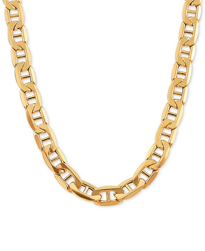 "Italian Gold - Mariner Link Chain 24"" Necklace in 10k Gold"