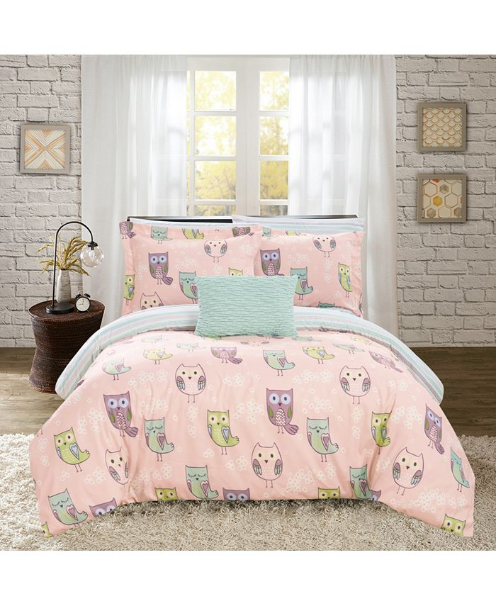 Chic Home - Owl Forest 8-Pc. Bed In a Bag Comforter Sets