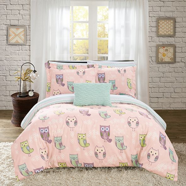 Chic Home Owl Forest 6 Piece Twin Bed In a Bag Comforter Set