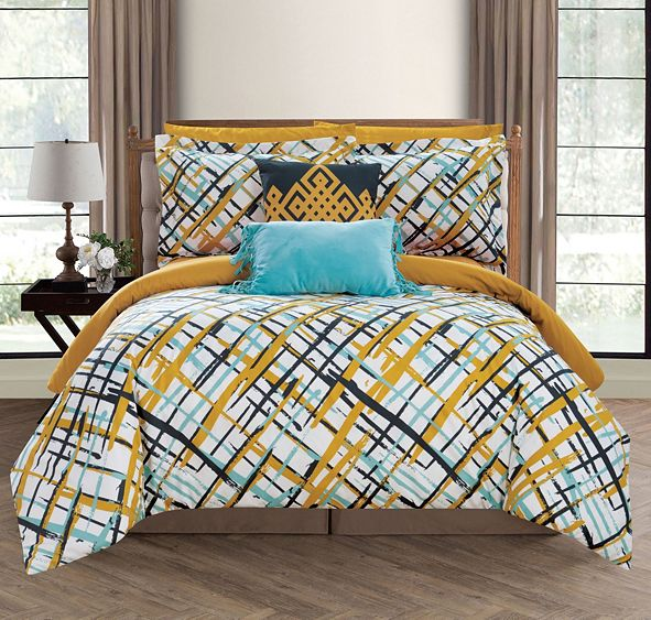 Chic Home Abstract 7 Piece Twin Bed In a Bag Comforter Set