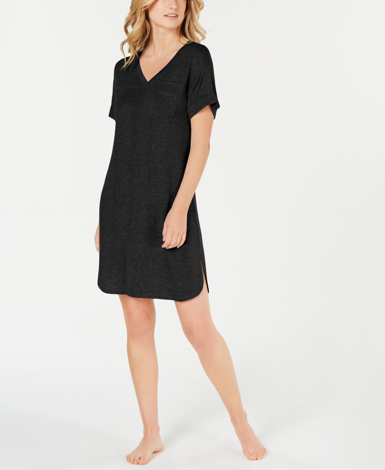 Alfani Ultra Soft Ribbed Knit Sleepshirt Nightgown, Created for Macy's  & Reviews - Bras, Panties & Lingerie - Women - Macy's