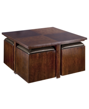 799 Pelham Square Cocktail Table With Four Storage Cubes