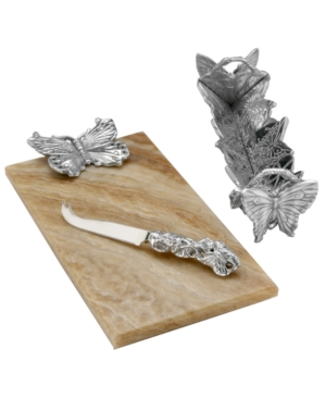 Arthur Court Serveware, Butterfly 3 Piece Cheese Serving Set