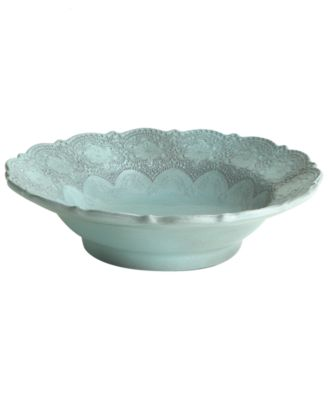 Arte Italica Dinnerware, Merletto Aqua Serving Bowl