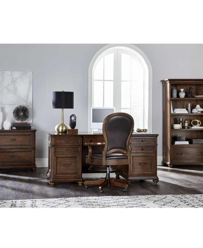 Furniture Clinton Hill Cherry Home Office Executive Desk & Reviews - Furniture - Macy's