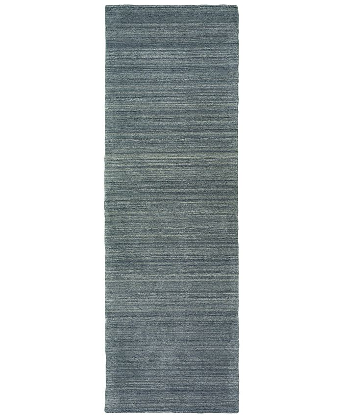 """Oriental Weavers - Infused 67000 Charcoal/Charcoal 2'6"""" x 8' Runner Area Rug"""