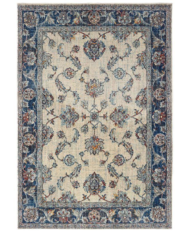 """Oriental Weavers Pandora 1802E Ivory/Blue 3'10"""" x 5'5"""" Area Rug"""