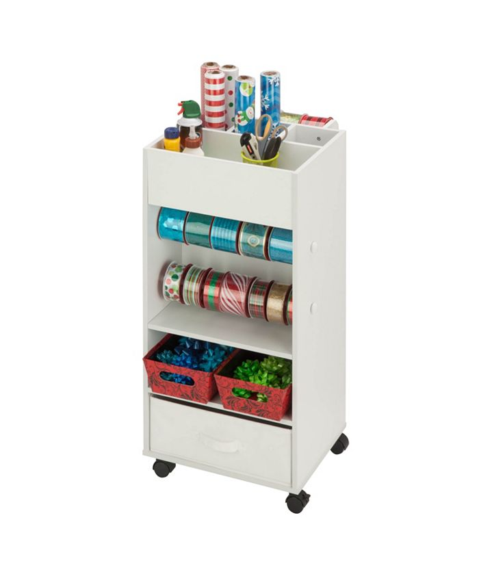 Honey Can Do - Storage Cart with Fabric Drawer