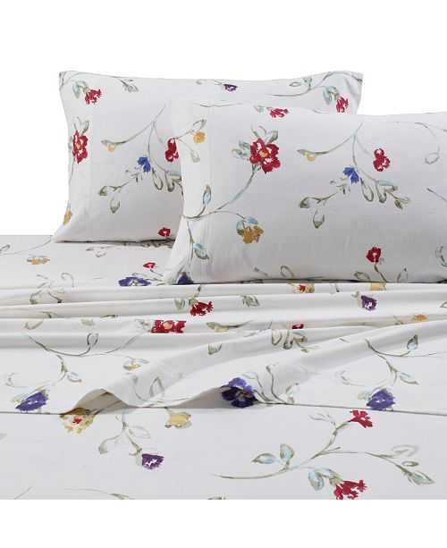Tribeca Living Flannel Floral Garden 170 Gsm Cotton Extra Deep Pocket Printed Twin Xl Sheet Set Reviews Sheets Pillowcases Bed Bath Macy S