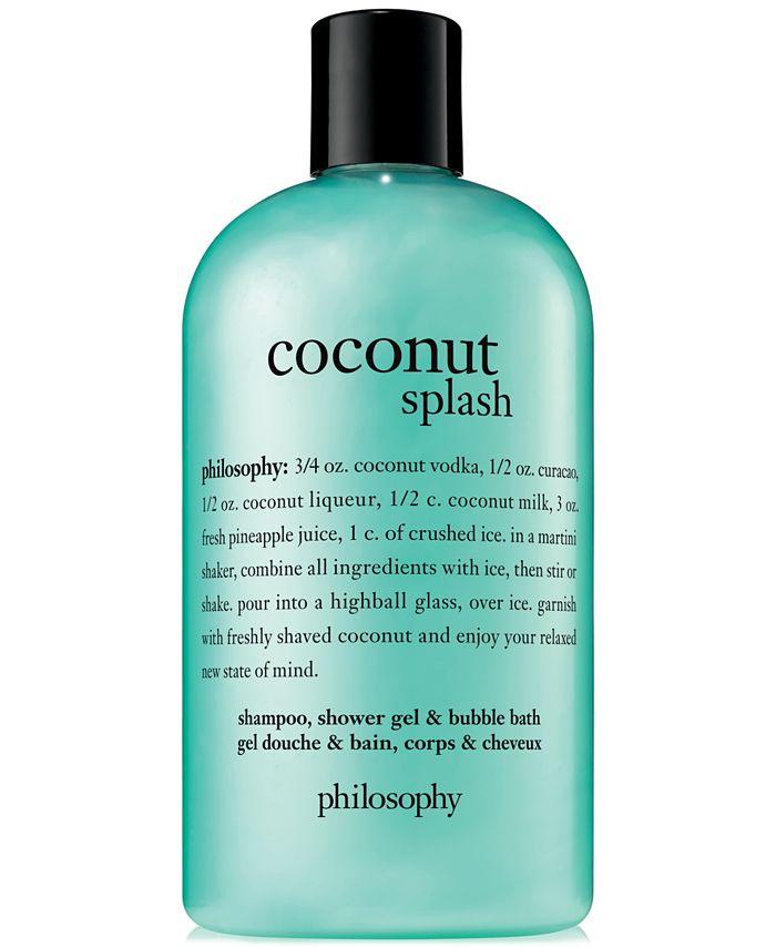 philosophy - Coconut Splash Shampoo, Shower Gel & Bubble Bath, 16-oz.