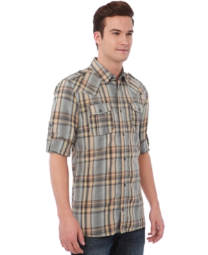 Buffalo David Bitton Shirt, Santenzen Chambray Plaid