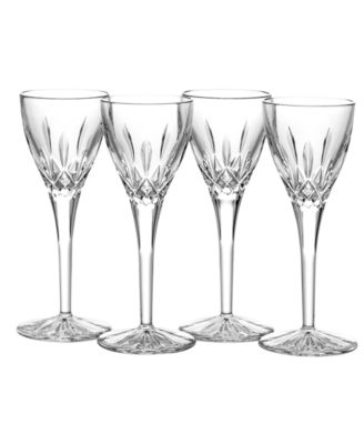 Waterford Stemware, Lismore Cordial Glasses, Set of 4