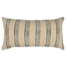 """Rizzy Home 14"""" x 26"""" Striped Pillow Cover"""