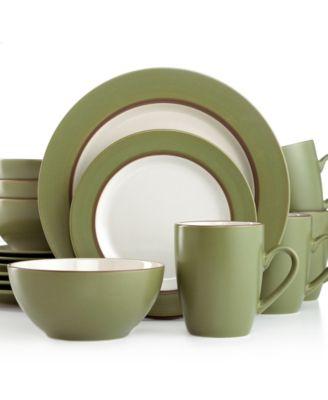 Thomson Pottery Kensington Cedar 16-Pc. Set, Service for 4