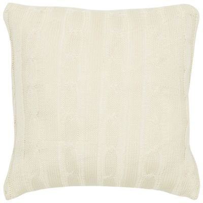 """18"""" x 18"""" Cable Knit Down Filled Pillow"""