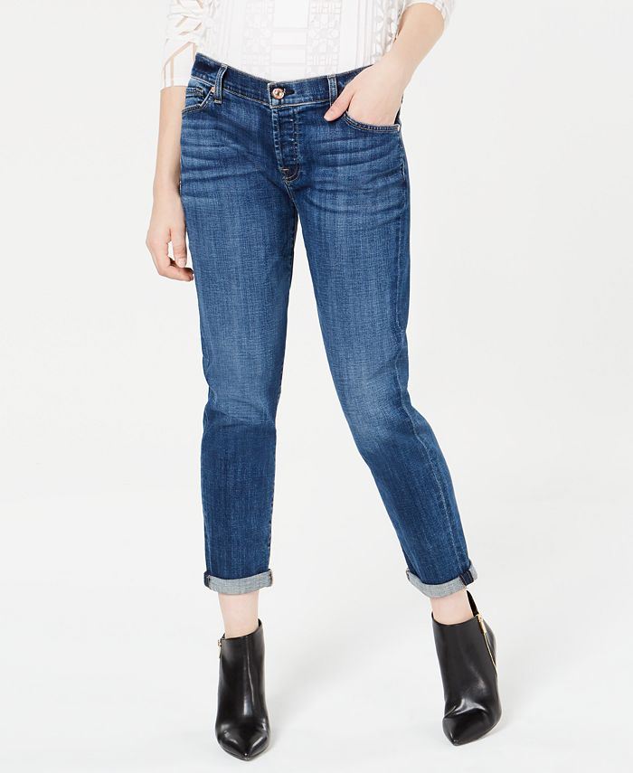 7 For All Mankind - Josefina Rolled-Hem Straight-Leg Jeans