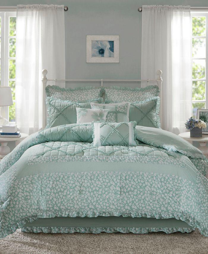 Madison Park - Mindy Cotton 9-Pc. Queen Comforter Set