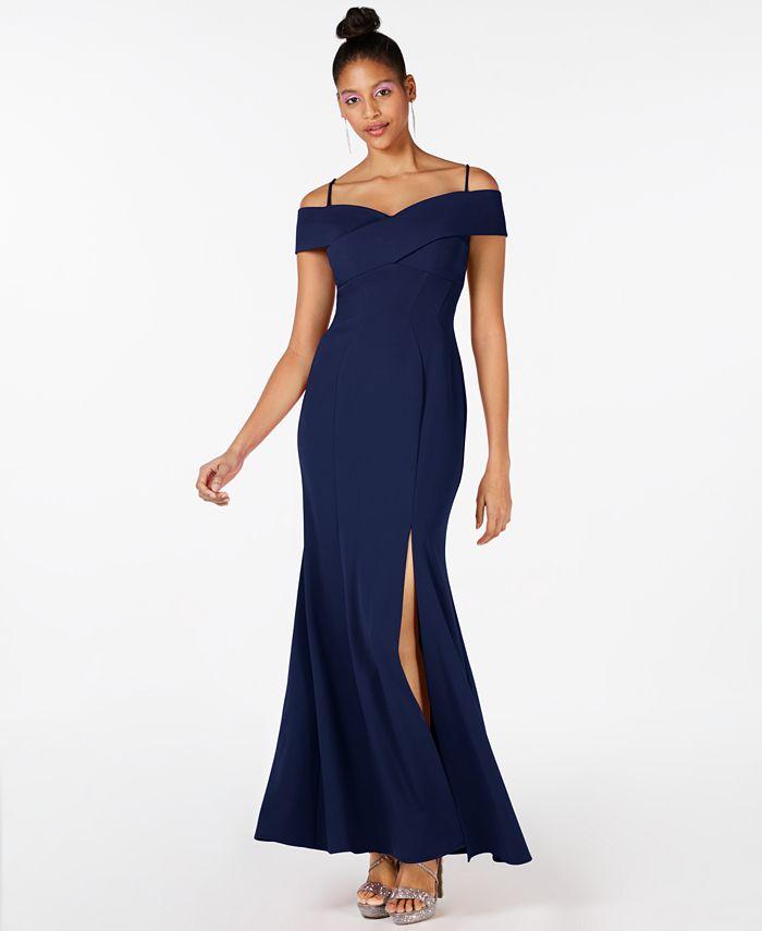 Nightway - Cold Shoulder Gown