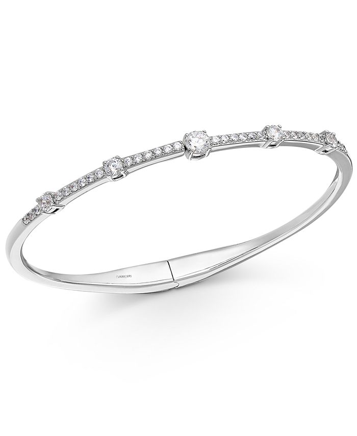 Eliot Danori - Crystal Hinge Bangle Bracelet