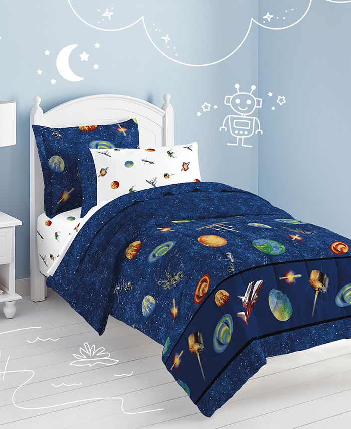 Dream Factory - Outer Space Twin Comforter Set