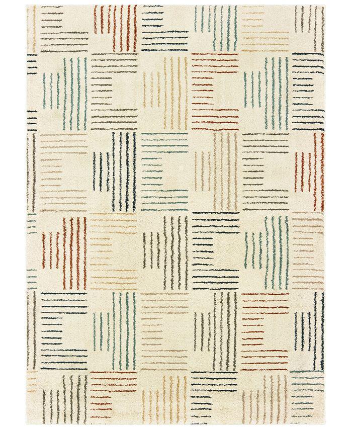 "Oriental Weavers - Carson 9663A Ivory/Multi 6'7"" x 9'2"" Area Rug"