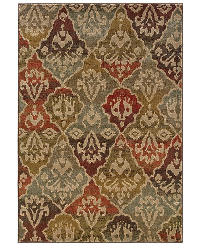 """Oriental Weavers - Casablanca 4442C Multi/Beige 5'3"""" x 7'6"""" Area Rug"""