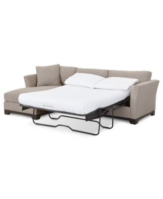 "Elliot II 107"" Fabric 2-Pc. Chaise Sleeper Sectional Sofa, Created for Macy's"