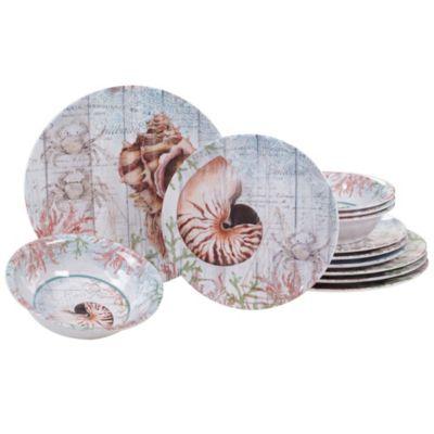 Sanibel Melamine 12 Piece Dinnerware Set