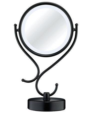 conair lighted makeup mirror black matte bathroom accessories bed. Black Bedroom Furniture Sets. Home Design Ideas