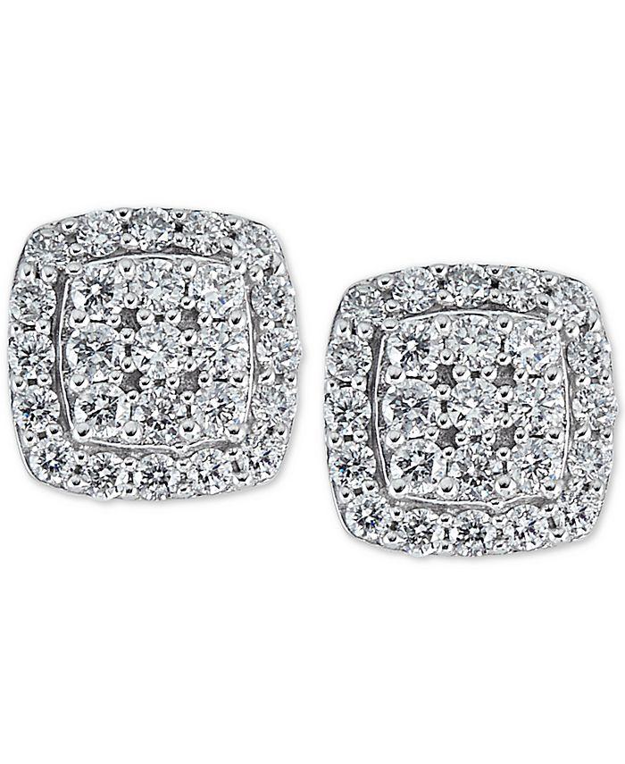 Macy's - Diamond (1/2 ct. t.w.) Stud Earrings in 14k White Gold