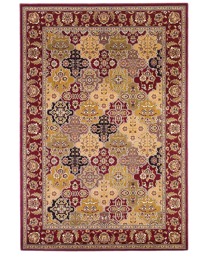 "Kas - Cambridge Panel 7325 Red 7'7"" Round Area Rug"