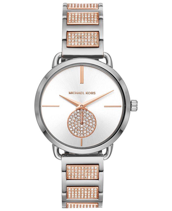 Michael Kors - Women's Portia Two-Tone Stainless Steel Bracelet Watch 36mm