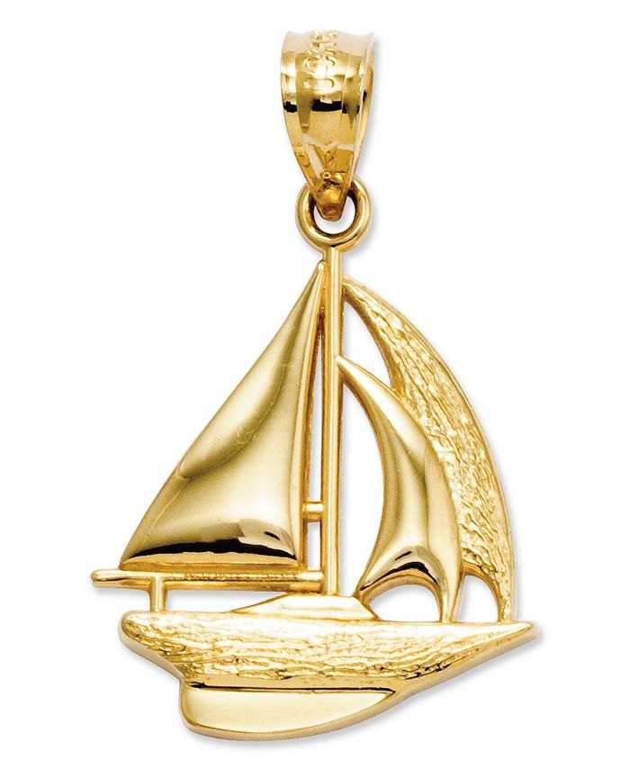 Macy's - 14k Gold Charm, Sailboat Charm