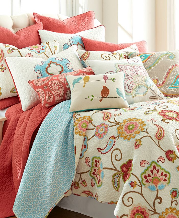 Levtex Home Ashbury Spring Full Queen Quilt Set Reviews Quilts Bedspreads Bed Bath Macy S
