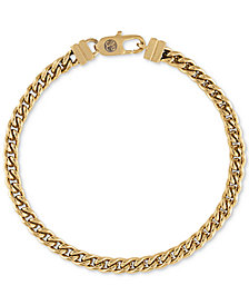 Esquire Men's Chain Bracelet in Gold-Tone Ion-Plated Stainless Steel