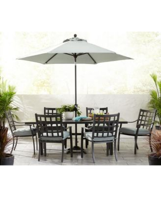 Highland Aluminum Outdoor 9-Pc. Dining Set (64