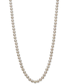 """Belle de Mer Cultured Akoya Pearl (6-6-1/2mm) 18"""" Strand Necklace in 14k Gold, Created for Macy's"""