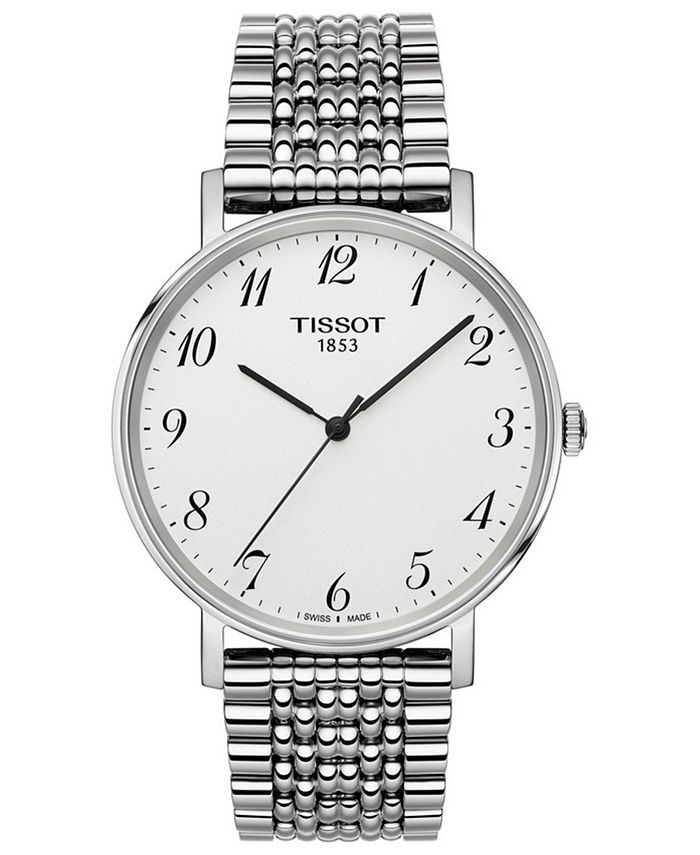Tissot - Men's Swiss T-Classic Everytime Stainless Steel Bracelet Watch 38mm