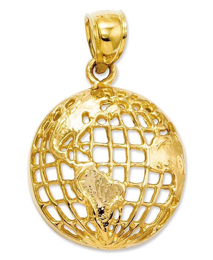Macy's - 14k Gold Charm, Polished Globe Charm