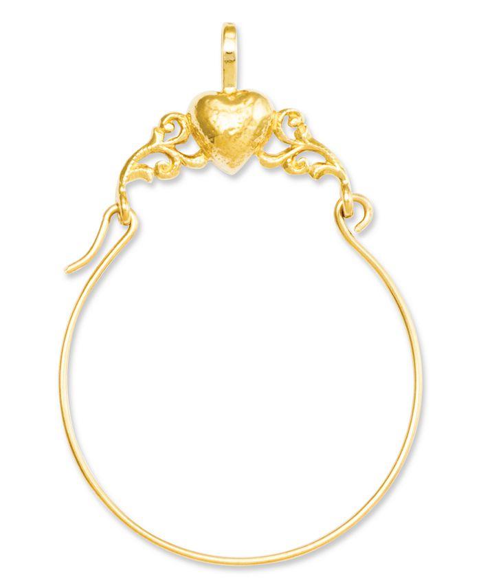 Macy's - 14k Gold Charm Holder, Polished Heart Charm Holder